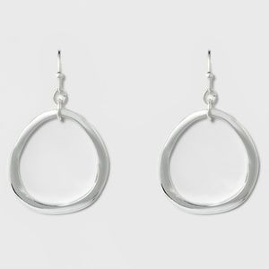 Organic Drop Earrings - A New Day Silver